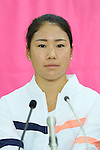 Nao Hibino (JPN), <br /> JULY 13, 2016 - Tennis : <br /> A press conference <br /> for Rio Olympic Games in Tokyo, Japan. <br /> (Photo by YUTAKA/AFLO SPORT)