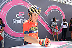 Domenico Pozzovivo (ITA) Bahrain-Merida at sign on before the start of Stage 14 of the 2018 Giro d'Italia, running 186km from San Vito al Tagliamento to Monte Zoncolan features Europe's hardest climb, Italy. 19th May 2018.<br /> Picture: LaPresse/Gian Mattia D'Alberto | Cyclefile<br /> <br /> <br /> All photos usage must carry mandatory copyright credit (&copy; Cyclefile | LaPresse/Gian Mattia D'Alberto)
