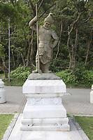 The Twelve Divine Generals - The General Indra - at Ngong Ping Village, Lantau Island, Hong Kong, China