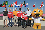 November 18 2011 - Guadalajara, Mexico:   Team Canada in the Goalball Bronze Medal Match in the San Rafael Park Sports Complex at the 2011 Parapan American Games in Guadalajara, Mexico.  Photos: Matthew Murnaghan/Canadian Paralympic Committee