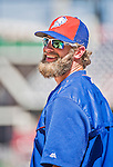 6 April 2015: New York Mets outfielder Kirk Nieuwenhuis awaits his turn in the batting cage prior to the Season Opening Game against the Washington Nationals at Nationals Park in Washington, DC. The Mets rallied to defeat the Nationals 3-1 in their first meeting of the 2015 MLB season. Mandatory Credit: Ed Wolfstein Photo *** RAW (NEF) Image File Available ***