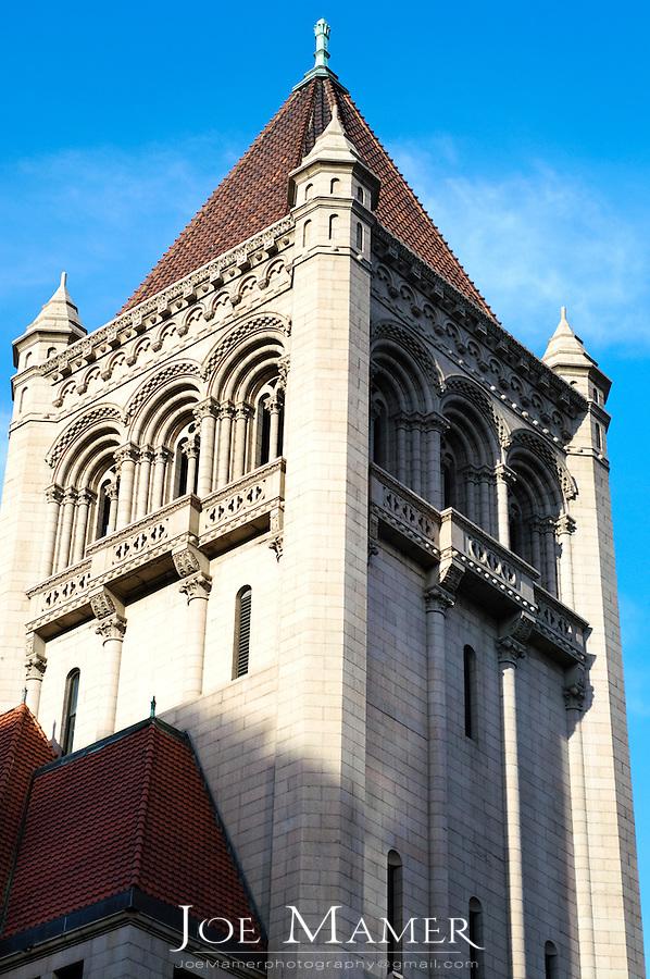 Landmark Center building tower in Saint Paul, Minnesota.