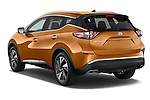 Car pictures of rear three quarter view of a 2015 Nissan Murano Platinum 5 Door SUV Angular Rear