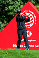 Shubhankar Sharma (IND) on the 16th tee during the 3rd round at the WGC HSBC Champions 2018, Sheshan Golf CLub, Shanghai, China. 27/10/2018.<br /> Picture Fran Caffrey / Golffile.ie<br /> <br /> All photo usage must carry mandatory copyright credit (&copy; Golffile | Fran Caffrey)