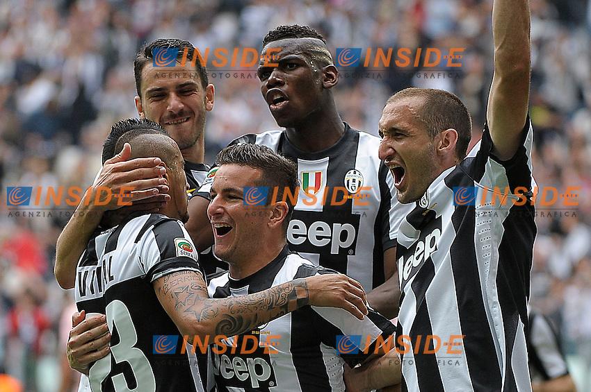 Esultanza , Goal celebration , Arturo Vidal  Juventus.Torino 05/05/2013 Juventus Stadium.Football Calcio Serie A  2012/13.Juventus vs Palermo.Foto Insidefoto Federico Tardito