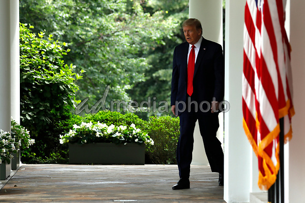 United States President Donald J. Trump arrives to deliver remarks on China in the Rose Garden at the White House in Washington, DC on May 29, 2020. <br /> Credit: Yuri Gripas / Pool via CNP/AdMedia