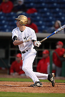 February 27, 2010:  Charlie Markson of the Notre Dame Fighting Irish during the Big East/Big 10 Challenge at Bright House Field in Clearwater, FL.  Photo By Mike Janes/Four Seam Images