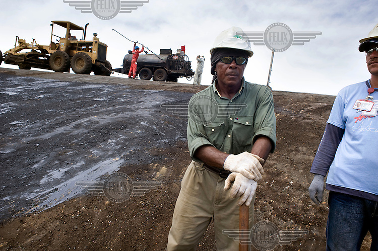 Workers at the Maracaibo Lake oil fields.