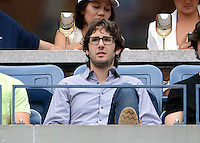 FLUSHING NY- SEPTEMBER 2: Josh Groban during Novak Jokovic Vs Julien Benneteau on Arthur Ashe stadium at the USTA Billie Jean King National Tennis Center on September 2, 2012 in in Flushing Queens. Credit: mpi04/MediaPunch Inc. ***NO NY NEWSPAPERS*** /NortePhoto.com<br />
