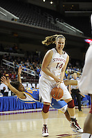 March 14, 2010.  Kayla Pedersen during the finals of the Pac-10 tournament.  Stanford defeated UCLA, 70-46.