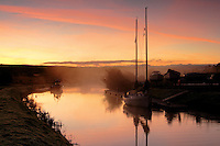 Misty dawn over the Crinan Canal at Cairnbaan near Lochgilphead, Argyll &amp; Bute<br /> <br /> Copyright www.scottishhorizons.co.uk/Keith Fergus 2011 All Rights Reserved
