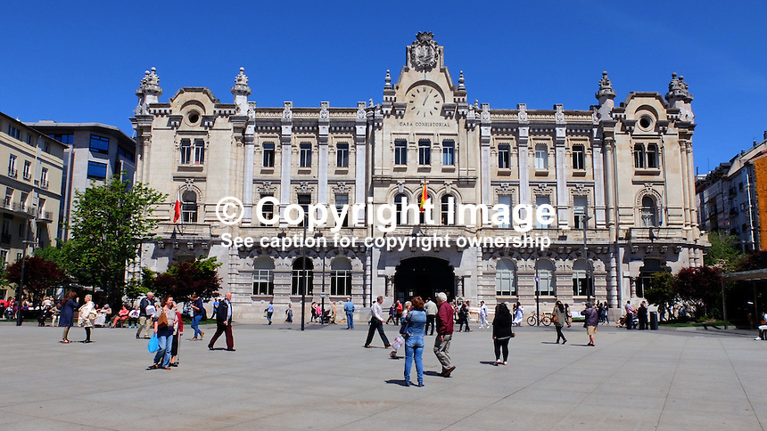 Casa Consistorial, Town Hall, Santander, Spain, May, 2015, 201505060769<br />