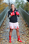 15.11.2014., Frankfurt, Germany - Nikolina Orlova, known as Nikki Adler, the German boxer is of Croatian descent, the current world champion to the WBU and European champion in the WIBF super middleweight<br /> <br /> Foto ©  nph / PIXSELL / Tomislav Miletic