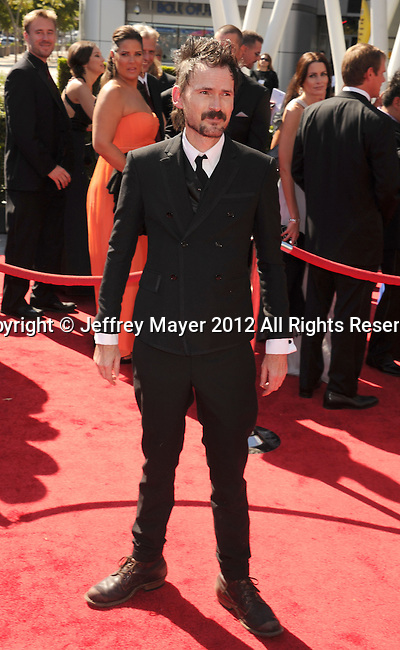 LOS ANGELES, CA - SEPTEMBER 15: Jeremy Davies arrives at the 2012 Primetime Creative Arts Emmy Awards at Nokia Theatre L.A. Live on September 15, 2012 in Los Angeles, California.