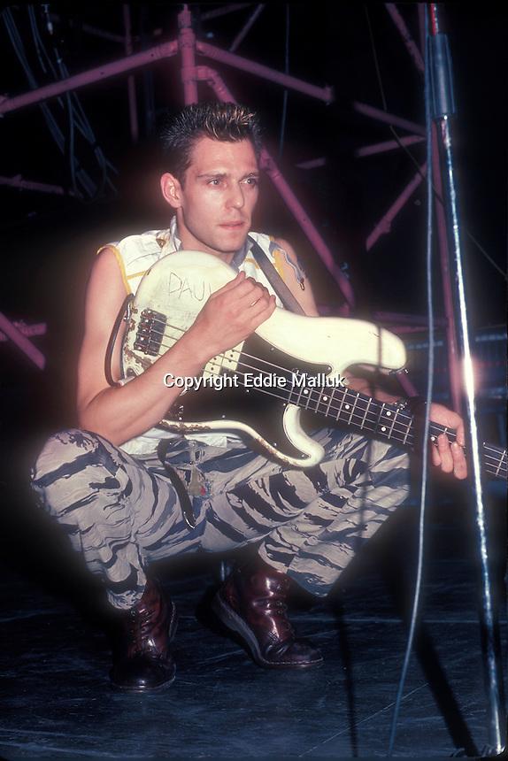 The Chash: Paul Simonon: April 14, 1984 at Hofstra University, Long Island NY<br /> Photo Credit: Eddie Malluk