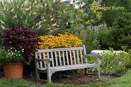 HS73-500z  Garden Bench in Perennial Garden