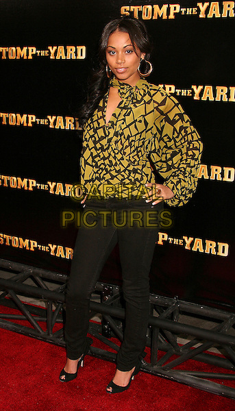 "LAUREN LONDON .""Stomp The Yard"" Los Angeles Premiere at Arclight Cinemas, Hollywood, California, USA, 8 January 2007..full length.CAP/ADM/BP.©Byron Purvis/AdMedia/Capital Pictures."