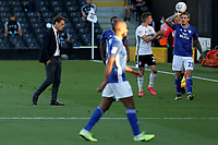 30th July 2020; Craven Cottage, London, England; English Championship Football Playoff Semi Final Second Leg, Fulham versus Cardiff City; Fulham Manager Scott Parker seems deep in thought during the drinks break