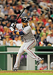 24 September 2010: Atlanta Braves infielder Derrek Lee in action against the Washington Nationals at Nationals Park in Washington, DC. The Nationals defeated the Braves 8-3 to take the first game of their 3-game series. Mandatory Credit: Ed Wolfstein Photo