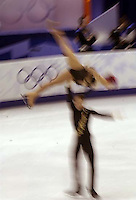 From Slovakia, Olga Bestandigova and Jozef Bestandigova. Pairs Free Skating finals Monday night at the Salt Lake Ice Center, 2002 Olympic Winter Games.&amp;#xA; 02.11.2002, 6:18:23 PM<br />