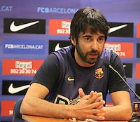 5.06.2012 Barcelona. Rueda de prensa de presentacion playoff final liga ACB. Juan Carlos Navarro