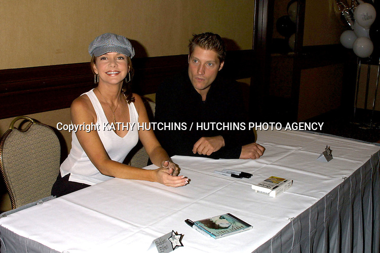 ©2003 KATHY HUTCHINS / HUTCHINS PHOTO.BOLD AND THE BEAUTIFUL FAN LUNCHEON.UNIVERSAL SHERATON HOTEL.UNIVERSAL CITY, CA.AUGUST 16, 2003..BOBBIE EAKES.SEAN KANAN.