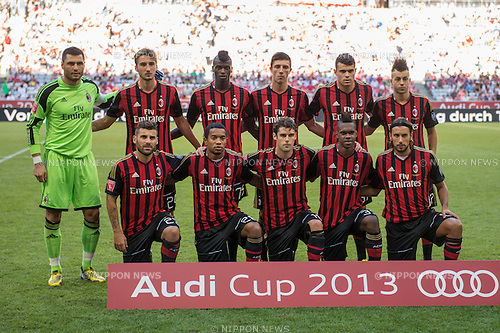 AC Milan team group line-up (Milan), AUGUST 1, 2013 - Football / Soccer : Audi Cup 2013 match between AC Milan 1-0 Sao Paulo FC at Allianz Arena in Munich, Germany. (Photo by Maurizio Borsari/AFLO) [0855]