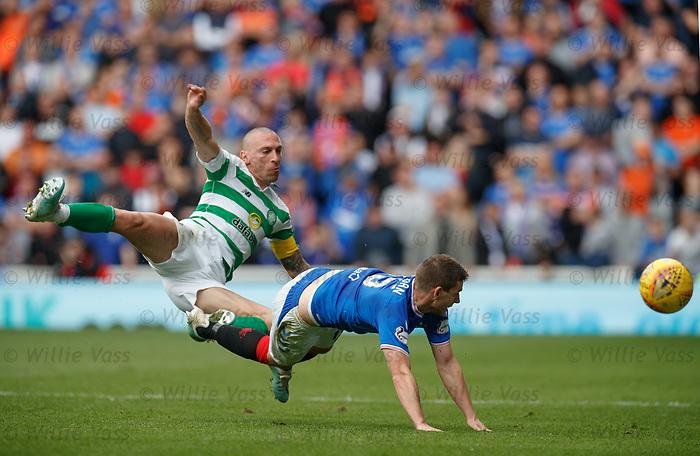 01.09.2019 Rangers v Celtic: Scott Brown and Jon Flanagan