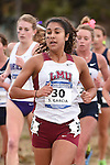 November 1, 2014; Sunnyvale, CA, USA; Loyola Marymount Lions runner Samantha S. Garcia (30) competes during the WCC Cross Country Championships at Baylands Park.