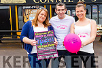 Connie K's in Rathmore will turn Pink this month for a fundraiser for the Irish Cancer Society. <br /> l-r Helena O'Callaghan, Jeff Gordan and Kelly Cronin.