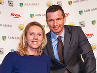 Rotterdam, Netherlands, Januari 06, 2016,  Press conference ABNAMROWTT, Wheelchair Tournament Director Esther Vergeer and  Tournament Director Richard Krajicek<br /> Photo: Tennisimages/Henk Koster