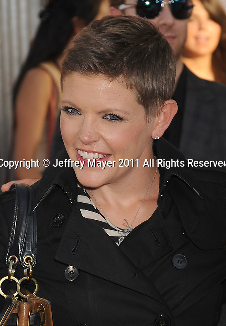 "UNIVERSAL CITY, CA - OCTOBER 02: Natalie Maines  attends the ""Real Steel"" Los Angeles Premiere at Gibson Amphitheatre on October 2, 2011 in Universal City, California."