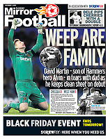 Sunday Mirror - 01-Dec-2019 - 'WEEP ARE FAMILY' - Photo by Rob Newell (Camerasport via Getty Images)