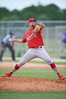 GCL Cardinals relief pitcher Kodi Whitley (35) delivers a pitch during a game against the GCL Mets on July 23, 2017 at Roger Dean Stadium Complex in Jupiter, Florida.  GCL Cardinals defeated the GCL Mets 5-3.  (Mike Janes/Four Seam Images)