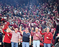 NWA Democrat-Gazette/J.T. WAMPLER Arkansas fans call the hogs during the Razorbacks' 100-52 win over the University of Alabama at Birmingham Sunday March 24, 2019 at Bud Walton Arena in Fayetteville during the second round of the Women's National Invitational Tournament. The Hogs are back home again Thursday against TCU.
