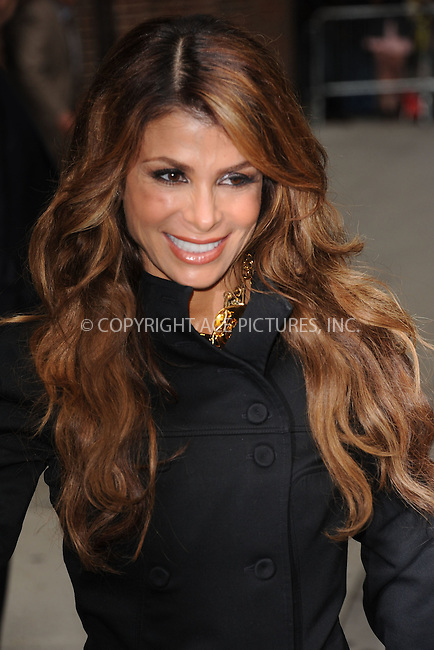 WWW.ACEPIXS.COM . . . . . .September 20, 2011...New York City...Paula Abdul tapes an appearance on  the Late Show with David Letterman on September 20, 2011 in New York City....Please byline: KRISTIN CALLAHAN - ACEPIXS.COM.. . . . . . ..Ace Pictures, Inc: ..tel: (212) 243 8787 or (646) 769 0430..e-mail: info@acepixs.com..web: http://www.acepixs.com .