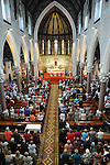 The large crowd that attended the mass in St Mary's church for the last 3 remaining nuns from Mercy Convent who are leaving. Photo: www.colinbellphotos.com