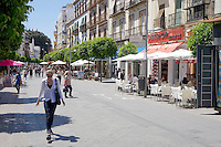 A street scene in the Triana neighborhood of Seville, Spain