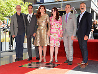 James Burrows, Eric McCormack, Debra Messing, Megan Mullally, Max Mutchnick, David Kohan at the Hollywood Walk of Fame Star Ceremony honoring actress Debra Messing on Hollywood Boulevard, Los Angeles, USA 06 Oct. 2017<br /> Picture: Paul Smith/Featureflash/SilverHub 0208 004 5359 sales@silverhubmedia.com