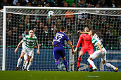 5th December 2017; Glasgow, Scotland;  Leander Dendoncker midfielder of RSC Anderlecht and Scott Brown midfielder of Celtic FC go for the high ball in the box during the Champions League Group B match between Celtic FC and Rsc Anderlecht