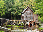 The Glade Creek Grist Mill is a new mill that was completed in 1976 at Babcock. Fully operable, this mill was built as a <br />