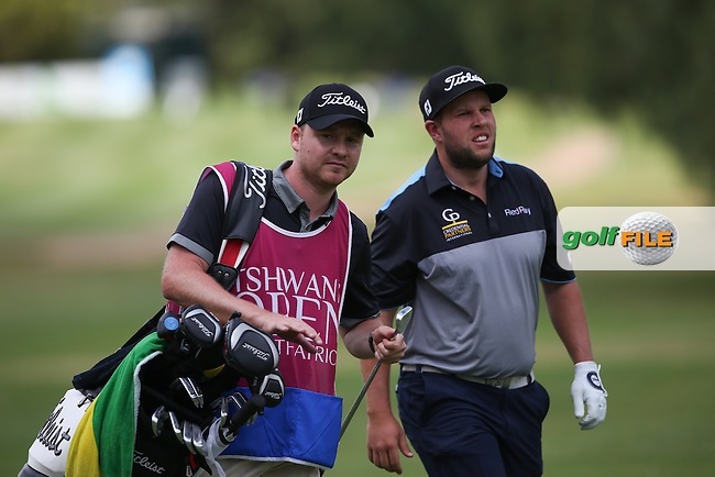 Andrew Johnston (ENG) and caddie head up the 18th during Round One of the Tshwane Open 2015 at the Pretoria Country Club, Waterkloof, Pretoria, South Africa. Picture:  David Lloyd / www.golffile.ie. 12/03/2015