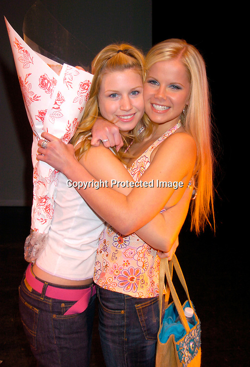 """Stephanie Gatschet and Crystal Hunt ..at a performance of """" Michael Minery's Tapaholics"""", a part of the International Dance Fesival NYC on August 7, 2004 ..at the Duke Theatre. ..Photo by Robin Platzer, Twin Images"""