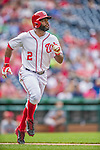 21 May 2014: Washington Nationals outfielder Denard Span in action against the Cincinnati Reds at Nationals Park in Washington, DC. The Reds edged out the Nationals 2-1 to take the rubber match of their 3-game series. Mandatory Credit: Ed Wolfstein Photo *** RAW (NEF) Image File Available ***