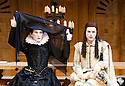 Twelfth Night I by William Shakespeare. A Shakespeare's Globe Production directed by Tim Carroll. With Mark Rylance as Olivia, Johnny Flynn as Viola. Opens at The Apollo Theatre  on 17/11/12. CREDIT Geraint Lewis