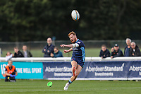 Rory Jennings of London Scottish during the Greene King IPA Championship match between London Scottish Football Club and Ealing Trailfinders at Richmond Athletic Ground, Richmond, United Kingdom on 8 September 2018. Photo by David Horn.