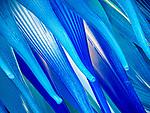 Glass Comet Star, Cometa di Vetro, sculpture of blue glass along Fondamenta dei Vetrai on the main canal of Murano, Italy.<br /> <br /> Created by Glassmaker Simone Cenedese