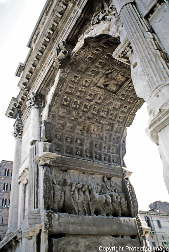 Arch of Titus, Rome Italy, 90 CE