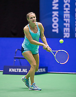Rotterdam,Netherlands, December 15, 2015,  Topsport Centrum, Lotto NK Tennis, Olga Kalyuzhnaya (NED)<br /> Photo: Tennisimages/Henk Koster