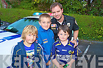 Adam Carey, Ian O'Connell and Jayden Tynan, Killarney, pictured with Shane Finnegan at the Cannonball run in Killarney on Saturday night.